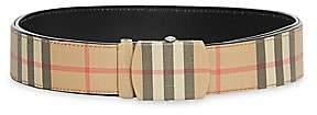 Burberry Men's Vintage Check Leather Belt