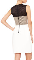Narciso Rodriguez Colorblock Net-Top Dress