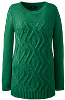 Classic Women's Plus Size Drifter Cotton Cable Sweater-Gemstone Teal