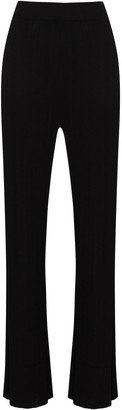 Ninety Percent Ribbed Straight-Leg Trousers