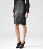 Shannon LEATHER PENCIL SKIRT