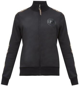 Fendi Ff Logo-trimmed Technical Jersey Track Jacket - Womens - Black