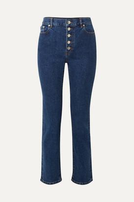 Joseph Den High-rise Slim-leg Jeans - Blue