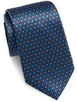 Giorgio Armani 3D Geometric Slim Silk Tie
