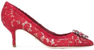 Dolce & Gabbana Bellucci Taormina lace 60mm pumps