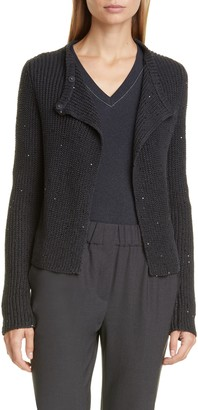 Brunello Cucinelli Sequin Rib Cardigan