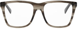 Gucci Brown Transparent Square Glasses