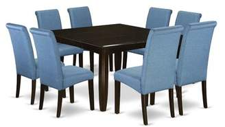 Winston Porter Joselyn Square Kitchen Table 9 Piece Extendable Solid Wood Dining Set Winston Porter