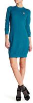 Love Moschino Ribbed Knit Wool Long Sleeve Dress