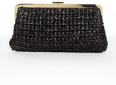 Brown Santorini Straw Clutch