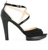 Hogan platform sandals - women - Leather/Suede/rubber - 38.5
