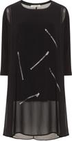 zedd plus Plus Size Layered zip print tunic