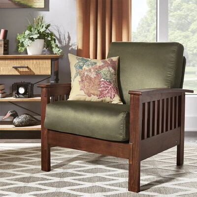 """Thumbnail for your product : Charlton Home Wydmire 32.5"""" Wide Armchair Fabric: Rust"""