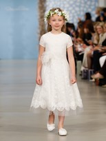 Oscar de la Renta Lace Flower Girl Dress