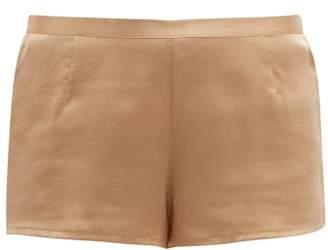 La Perla Silk-satin Pyjama Shorts - Womens - Nude