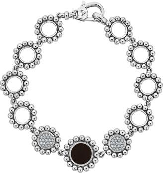 Lagos Maya Black Onyx & Diamond Circle-Link Bracelet