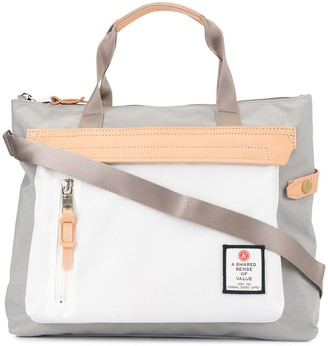 As2ov Contrast Panel Tote