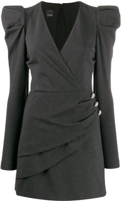 Pinko puffed sleeve mini dress