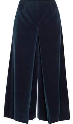 Sonia Rykiel Pleated Cotton-velvet Culottes