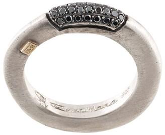 Rosa Maria Sapho black-diamond pave ring