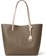 MICHAEL Michael Kors Hayley Large East-West Logo-Print Tote Bag, Mocha/Bisque