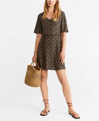 MANGO Short Buttoned Dress