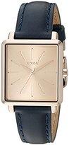 Nixon Women's A4722160-00 K Squared Analog Display Japanese Quartz Blue Watch