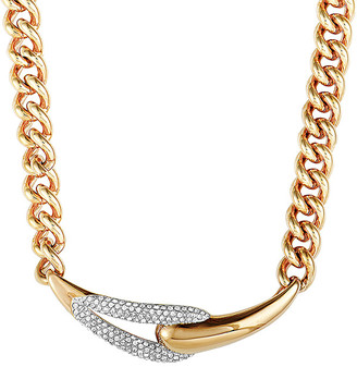 Swarovski Crystal Rose Gold Plated Stainless Steel Necklace