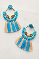 Anthropologie Pom & Tassel Earrings