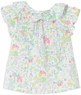 Jacadi Girls' Ruffle Floral Blouse