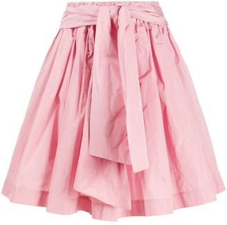 MSGM A-line taffeta mini skirt