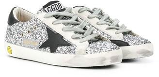 Golden Goose Kids Superstart sequin-embroidered sneakers