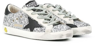 Golden Goose Kids Superstart sequin-embroidered sneakers