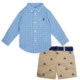 Polo Ralph Lauren Pony Logo Shirt And Shorts Set