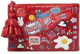 Anya Hindmarch Women's Georgiana Allover Wink Stickers Clutch
