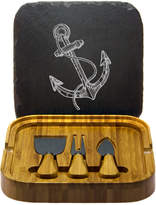 Susquehanna Glass Vintage Anchor Square Cheese Set