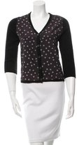 Samantha Sung Polka Dot Wool Cardigan