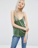 Weekday Velvet Cami Top