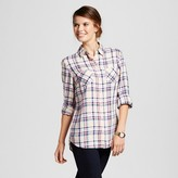 Merona Women's Favorite Shirt Tumble Green Plaid XS