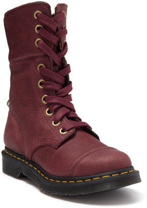 Dr. Martens Aimlita Plaid Lined Pebbled Boot