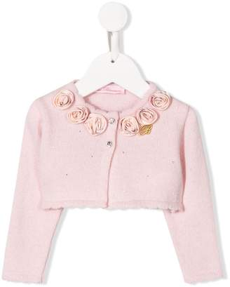 Miss Blumarine rose detail cardigan