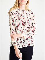 Marella Edro Printed Silk Blouse, Wool White