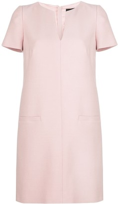 Paule Ka Split Neck Shift Dress
