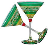 Golden Hill Studio Christmas Garland Martini Glass