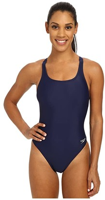 Speedo Solid Lycra(r) Superpro Navy) Women's Swimsuits One Piece