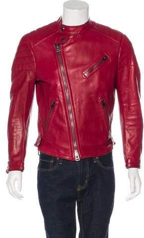 Tom Ford Leather Cafe Racer Jacket