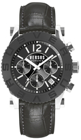 Versus By Versace Madison Black Dial Watch, 42mm