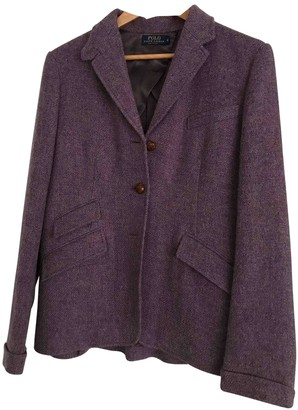 Ralph Lauren Purple Tweed Jacket for Women