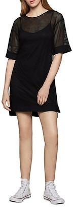 BCBGeneration Mixed-Media Mesh Shift Dress