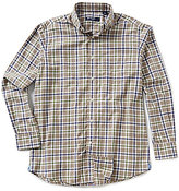 Daniel Cremieux Long-Sleeve Graph Print Heather Woven Shirt